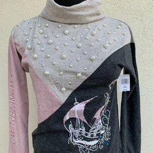 Disney Parks Women Shirt XS Peter Pan Long Sleeve